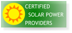 CERTIFIED     SOLAR POWER PROVIDERS